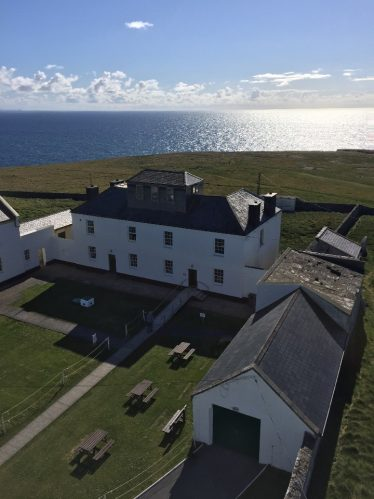 Lighthouse keeper's accommodation and sheds at Loop Head Lighthouse.    Photo by Jim Ryan