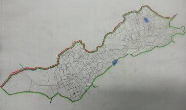 Drawing based on the First Edition OS map c.1840  | Data from the historic 6 inch map https://www.heritagemaps.ie/WebApps/HeritageMaps/index.html  accessed through the historic map viewer https://www.heritagemaps.ie 12/02/20