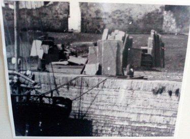 Flagstones ready for export at Merchant's Quay Kilrush   Photo courtesy of Kim Roberts