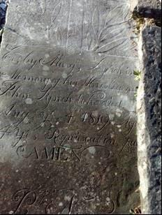 Graveslab in Old Shanakyle Graveyard, Kilrush   Michael Gilligan