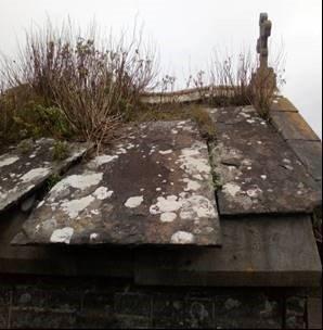 Flagstone roof on St Senans Oratory ? graveyard   Michael Gilligan