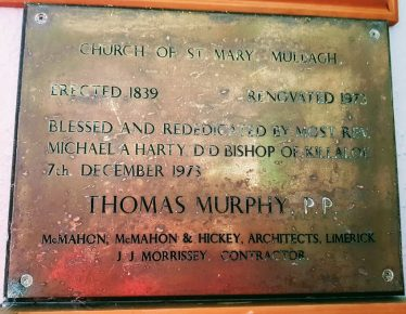 Wall Plaque in South Transept Gable Porch  | Ann Marie Meaney