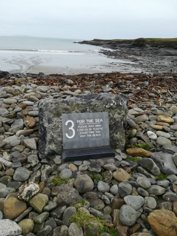 Take 3 for the Sea signage at Whitestrand Co. Clare   Susan Powell 2020