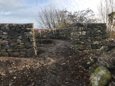 Topwalls of Kilmurry lime kiln after conservation work (Nov 2019) | Carmel Frazer