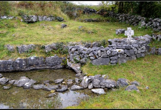 Glencolumbkille South Holy Well, likely once known as Tober Colmcille, Carran